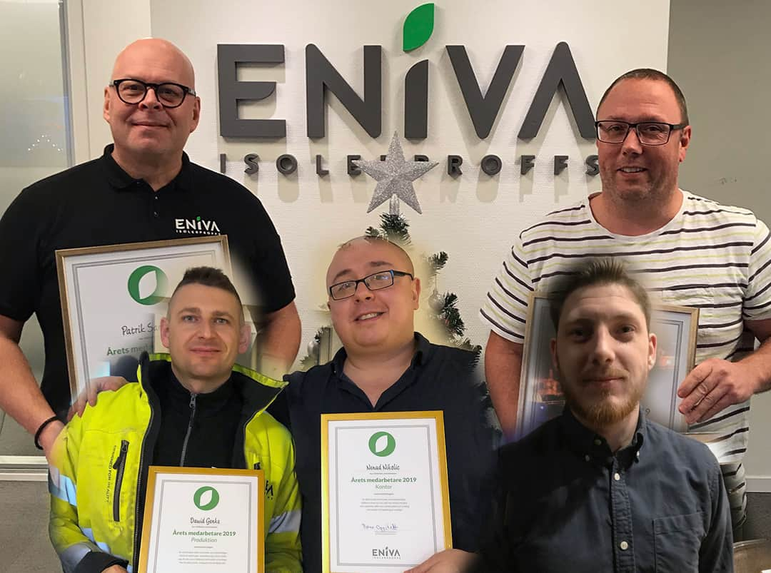 Årets medarbetare i ENIVA Isolerproffs 2019